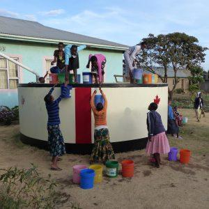 Tanzania - water tank runs dry